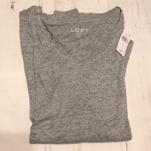 NWT Medium Loft long sleeve Grey heathered tee
